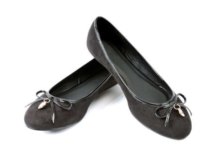 ballerina shoes: Ballerina shoes without heels photographed on white background.