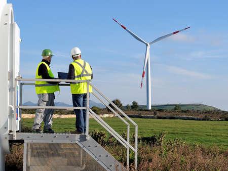 에너지 생산하는 풍력 터빈 설비의 검출에 종사하는 기술자