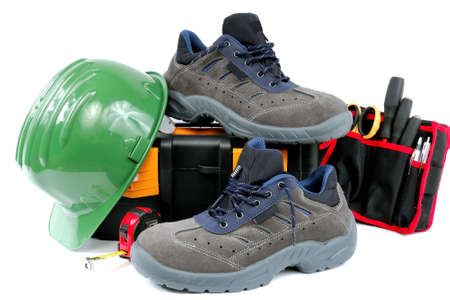shoe strings: Protective work shoes for heavy work at the construction site