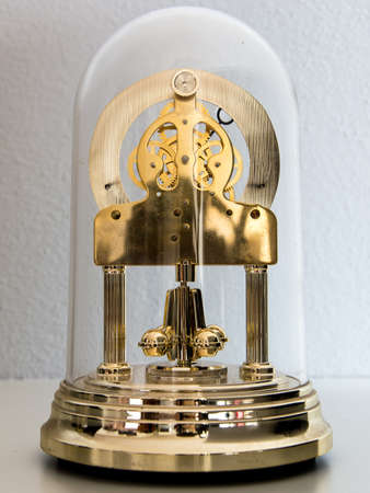 Clock with glass dome