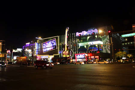 Night scene in Las Vegas.