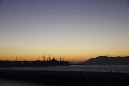 San Francisco sunset scene