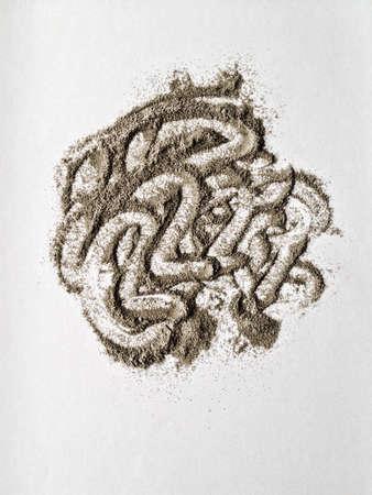 using black pepper powder created shape.