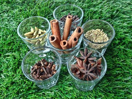6 different spices ingredient.