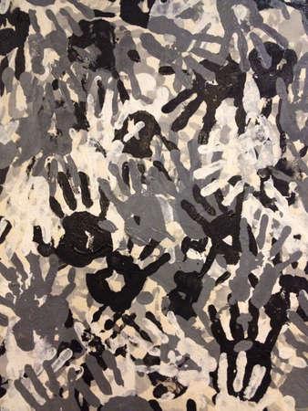 print: Hand prints Stock Photo