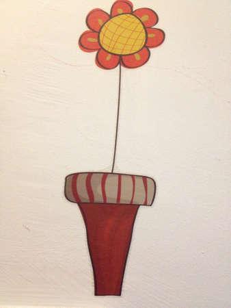 Wall sticker flower shape