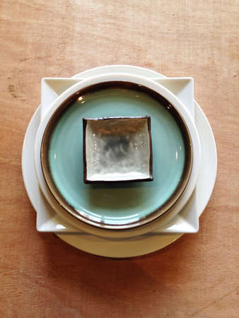 Plates forming shape Stock Photo