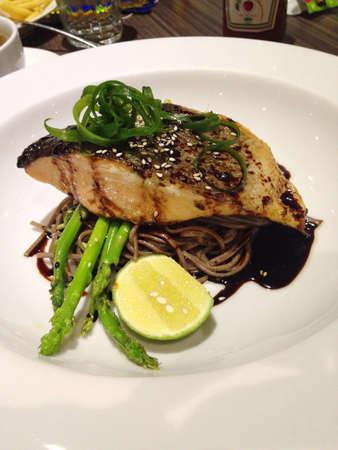 Salmon ramen