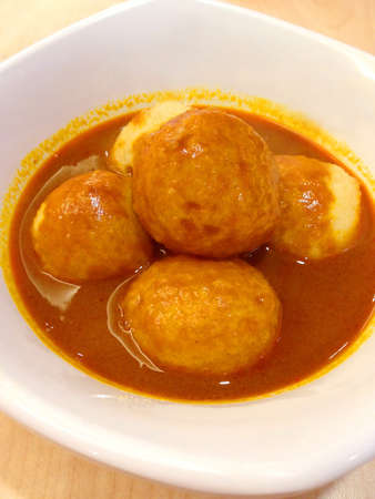 Curry fish ball Stock Photo