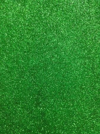 Green color glitter paper texture  Stock Photo