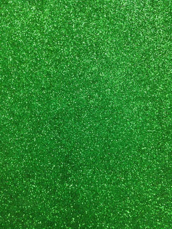 Green color glitter paper texture  Stock Photo