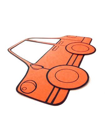 Orange color paper cut board Stock Photo
