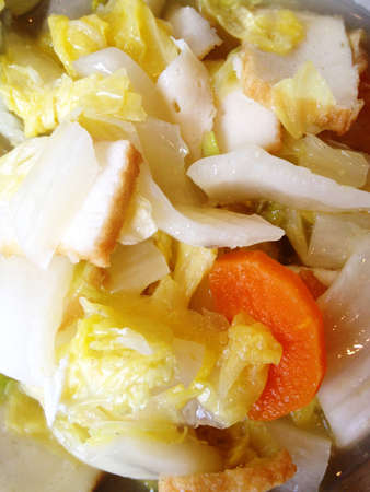 Chinese style fried Chinese cabbage. Stock Photo