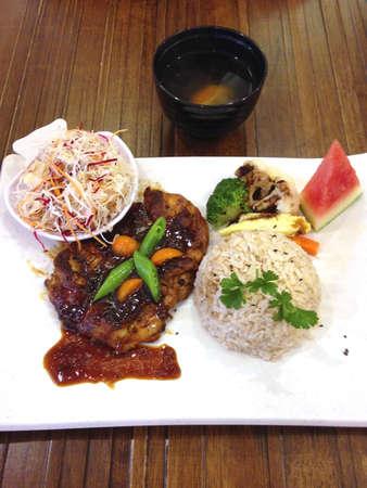 Chicken stick rice set