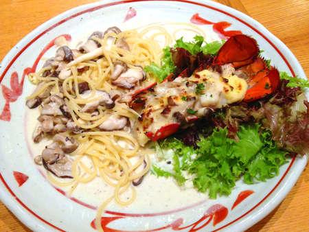 Lobster spaghetti.