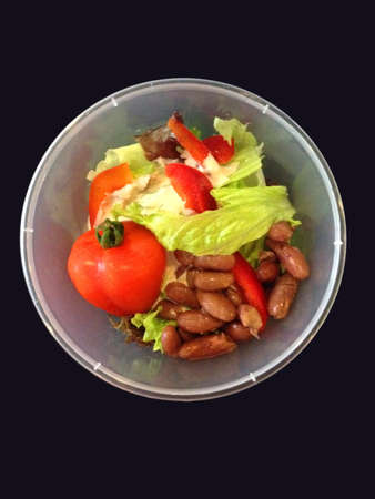 Tomato salad in bowl. Stock Photo