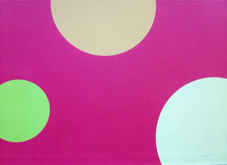 Colors circle on pink color background  Stock Photo