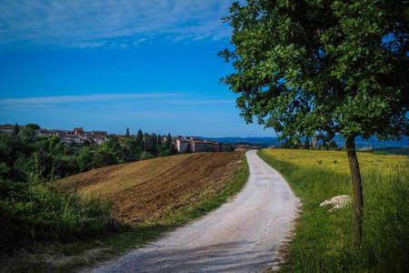een straat op het platteland