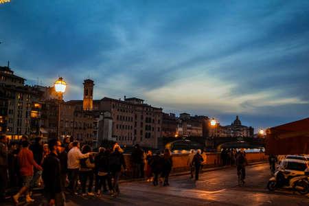 Vreemde lucht in Florence Stockfoto