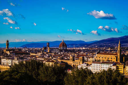 De prachtige stad Florence Stockfoto