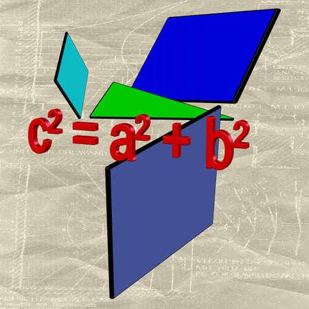 farbe: Satz des Pythagoras Stock Photo