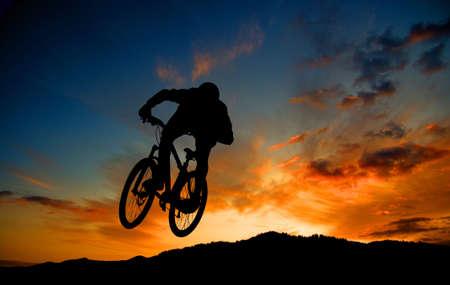 mountain bike: Cycling Stock Photo