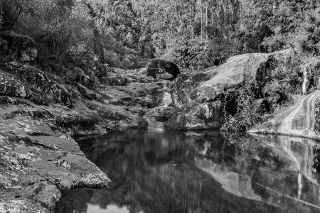 Natural pools at Rio Pedras, in Pobra do Caramià ± al, Galicia. Imagens