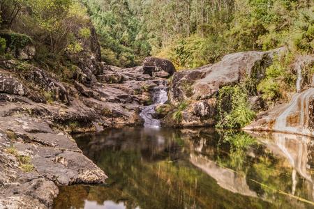 Natural pools in RiÃo Pedras, Pobra do Caramià ± al (Galicia) Imagens