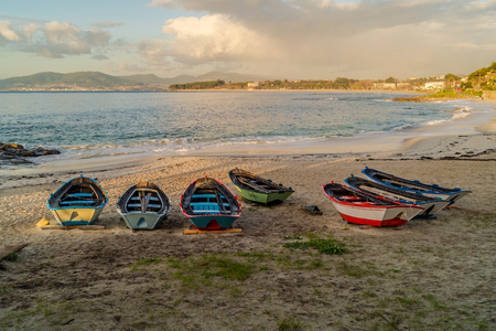 Boats resting on the sand