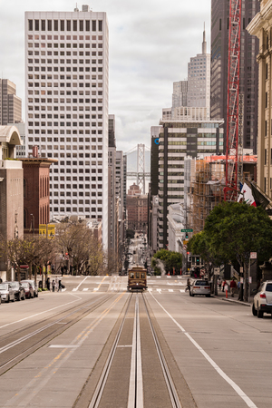 California Street Cable Car in San Francisco