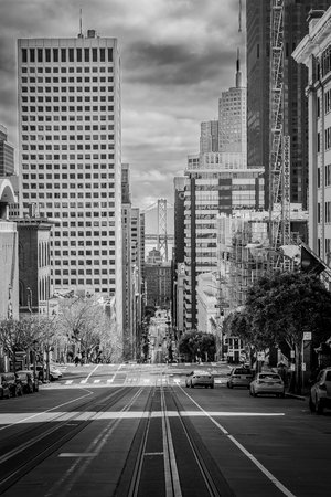 California Street, black and Whtie. San Francisco