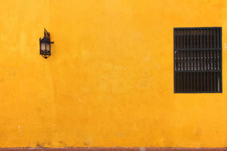 lamp window: Lamp, window and orange wall