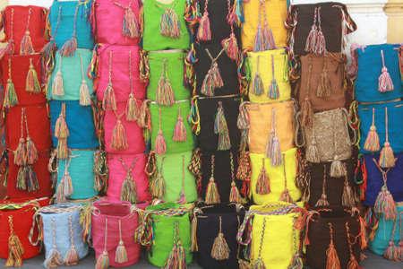 Wayuu aboriginal bags from colombia Banco de Imagens