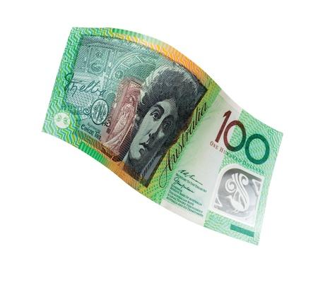 grigiastro: Banconota da 100 dollari Australia  Archivio Fotografico