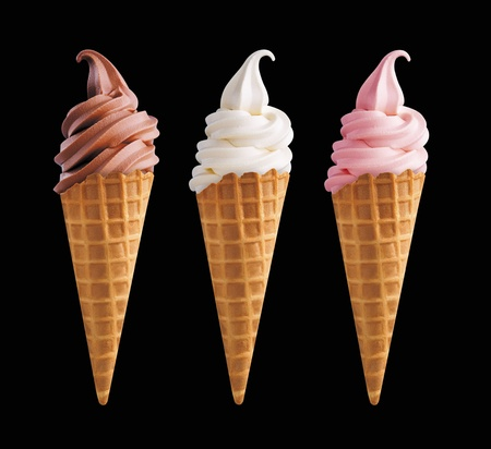 flavor: 3 ice cream Stock Photo