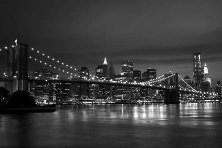black and white photography: New york Skyline