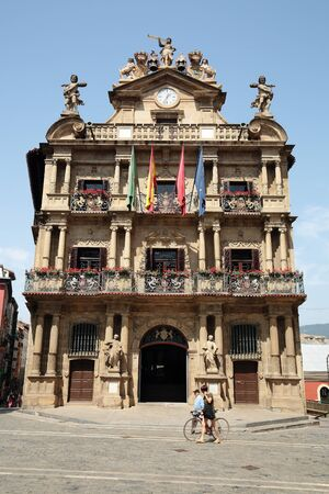town hall square: Town Hall Square of Pamplona, Spain