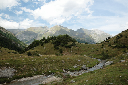 perdido: landscape of the Pyrenees of Huesca in Aragon, Spain Stock Photo