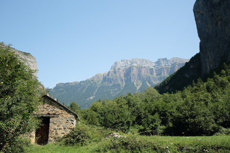 perdido: refuge in the Pyrenees of Huesca, Aragon, Spain