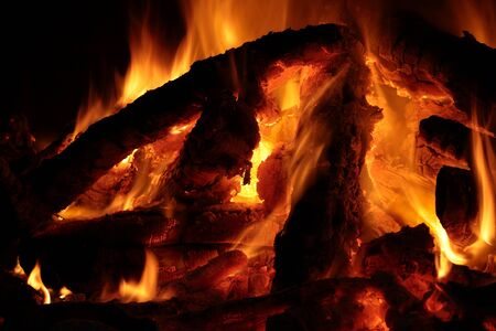 close up chimney: heat from a fireplace