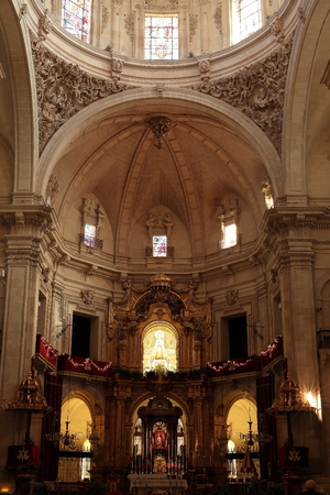 lyrical: Inside the Basilica of Santa Maria in Elche, Spain