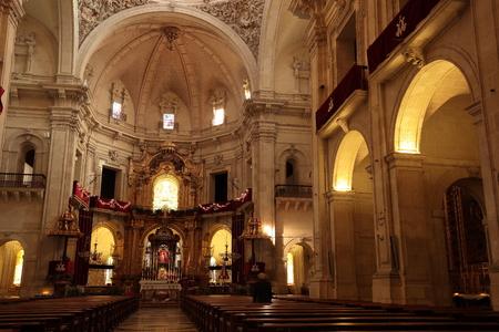 sacrum: Inside the Basilica of Santa Maria in Elche, Spain