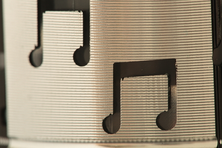 music design: Musical note in black on a small speaker