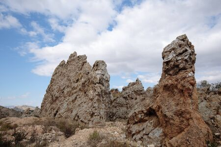 rocky mountains: Rocky Mountains in Aspe, Alicante, Spain Stock Photo