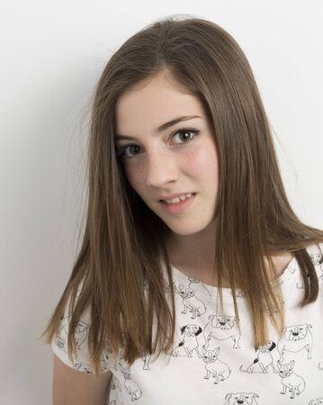 Retrato de una niña fotografiada de primer