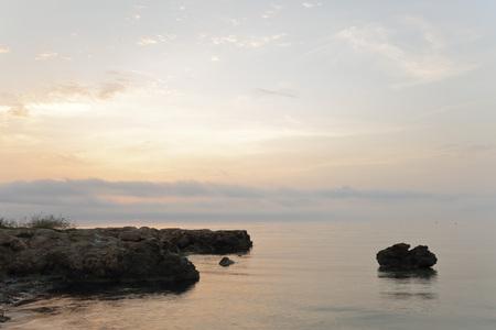 dawning: Dawning in barracks Creek, Santa Pola, Spain.