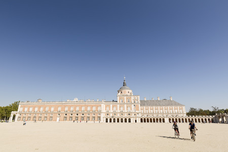 Aranjuez, Madrid, Spain. October 19, 2016: Royal Palace of Aranjuez, Madrid, Spain.