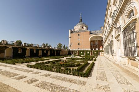 Royal Palace of Aranjuez, Madrid, Spain. Horizontal shoot.
