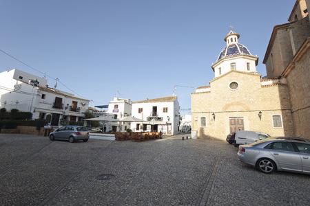 parish: Altea, Spain. October 16, 2016: parish of Our Lady of the Consolation in Altea, province of Alicante in Spain
