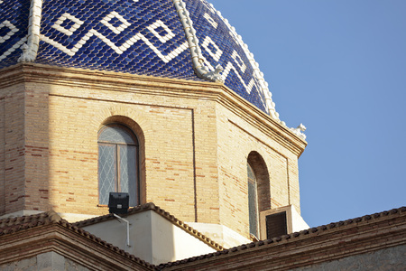 church of our lady: Dome of the Church Our Lady of the Consolation in Altea, province of Alicante, Spain